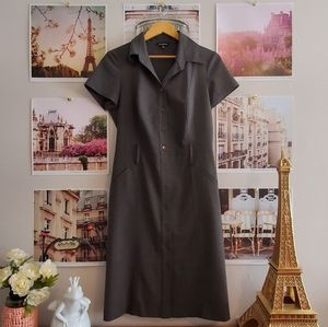 Le Château Grey Pencil Midi Dress (Made in Canada)